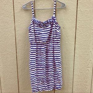 🇺🇸LOFT blue & white dress size 8P